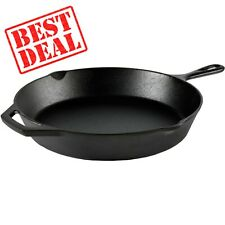 Cast Iron Skillet 12 Inch Frying Pan Oven Cooking Pre Seasoned Cookware