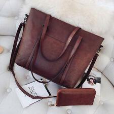 2018 Large Capacity Women Tote Messenger Wallet Leather Handbags Shoulder Bags
