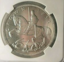 1935 GREAT BRITAIN CROWN - AU/UNC - NGC MS64 - Silver Coin - Lot #N24