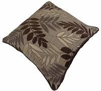 """LEAF LEAVES MOCHA BROWN CREAM THICK TAPESTRY CUSHION COVER 22"""" - 55CM"""