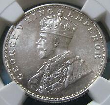 1919 (B) La India británica Plata rupia NGC MS62 certificada.