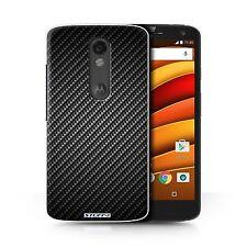 Stuff4 Case/cover for Motorola Moto X Force/carbon Fibre Effect/pattern/grey