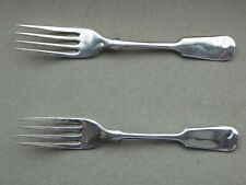 ANTIQUE PAIR OF SOLID SILVER DESSERT FORKS SHEFF 1911 JOSEPH RODGERS 80 GRAMS