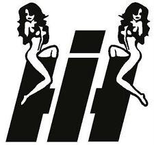 IH with Girl Vinyl Decal -Buy 1, Get One Free - Case International Harvester
