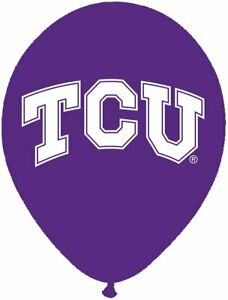 """TCU Horned Frogs NCAA College University Sports Party Decoration 11"""" Balloons"""