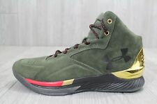 6254cdfb7af9 26 Under Armour Steph Curry SC 1 Lux Downtown Green Gold 1296617 330 8.5 10