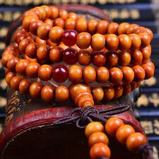 Sandalwood Buddhist Buddha Meditation 6mm Mala Bracelet Necklace Prayer Bead