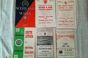 6 Rugby programmes from 1950s and 1960s