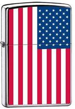 Zippo 7959 american flag high polish chrome united states Lighter