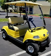 New 2020 Yellow Evolution EV Golf Cart Car Classic 2 Passenger seat 48v WARRANTY
