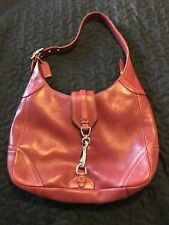 COACH HAMPTON HOBO Red Leather Shoulder Hand Bag