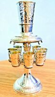 Vintage Sterling Silver 925 Kiddush/Kiddish 9 Cup set