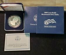 2009 Louis Braille Bicentennial Proof Silver Dollar  w/Box & COA