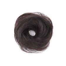 100% Human Hair Flexible Scrunchie Wrap For Straight Hair Bun Ponytail Extension