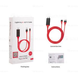 8PIN to Digital AV TV HDMI Kable Adapter für iPhone X 8 XS XR iPad NEU