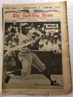 1965 Sporting News DETROIT Tigers HORTON All-Star Issue WILLIE MAYS Clemente N/L