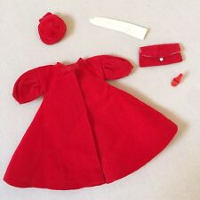 VINTAGE BARBIE RED FLARE COAT & ACCESSORIES #939