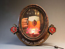 "STROH'S BEER PLASTIC ILLUMINATED BEER SIGN 18"" X 20"" brew wall hanging USED"