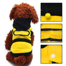 Dog Costume Clothes Fleece Cute Bumble Bee Lovely Cat Pet Harness Apparel Hoodie