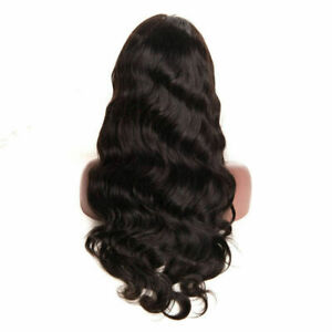 "USA 24"" Women Glueless Lace Front Full Wigs Body Wave Long Wig w/Baby Hair Wig"