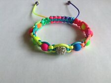 Rainbow Shamballa Bracelet. With shamballa bead most colours. LGBT