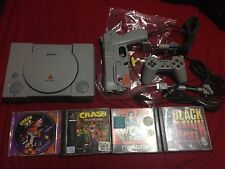 Playstation 1 SCPH-1002 Crash Bandicoot 1 + 2 refurbished controller Namco gun +