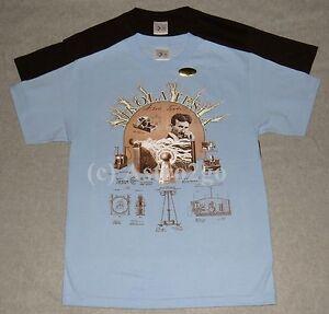NIKOLA TESLA--Scientist Inventor Electricity Wardenclyffe Physics T shirt S-3XL