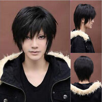 Women's Korean Wig Black Short Straight Natural Looking Wigs Cosplay Anime Wigs