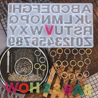 Making Resin Casting Set Letter Alphabet Mold Kit Number Silicone Molds DIY