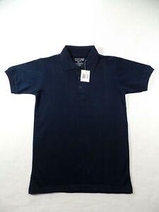 Boys Black Short Sleeve Polo Pique Knit Shirt Authentic Galaxy School Uniform