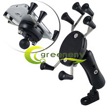 Universal Motorcycle Bike MTB Rearview Mirror Mount X-Shape Cell Phone Holder