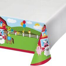 Farmhouse Fun Plastic Banquet Tablecloth Farm Birthday Party Decoration