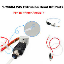 24V 1.75mm Extrusion Hot Head kit With Heating Rod for Anet ET4 3D Printer Parts