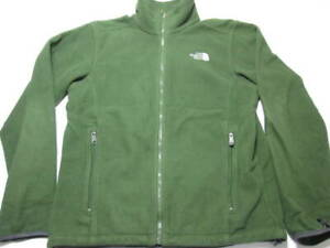 The North Face Mens Size S Track Jacket Green Softshell Outerwear