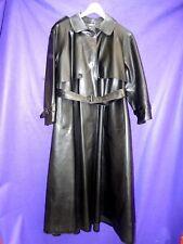 Weather vain pleine longueur Womans SBR Shiny Black Rubber Mackintosh Raincoat XL