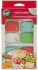 Edible Christmas Gift Tages 10 Icing Decorations from Wilton #0996