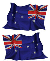 AUSTRALIA FLAG DECAL left and right facing AUSSIE SIZE 80MM BY 50MM GLOSS