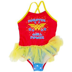 Wonder Woman Girl Power Toddlers One Piece Swimsuit