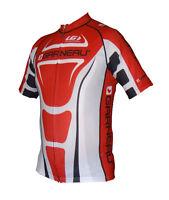 new cycling jersey Louis Garneau Vuelta Fondo men's road full zip diamond red bk