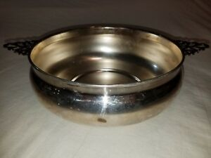 Sheffield Silver Co. Vintage Casserole Dish Chafing Holder Bowl