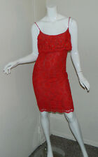 Women Vintage Joan Leslie Elegant Cocktail Evening Clubwear Party Red Dress 6