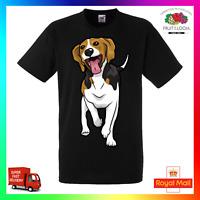 Happy Beagle Unisex TShirt T-Shirt Tee Cute Dog Puppy Pup Paw Pet Rescue Adopt