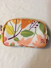 Clinique Cosmetic Flower Makeup Bag Zipper Pouch, size: 9 in * 6 in * 1 in