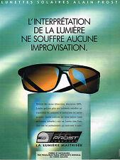 PUBLICITE ADVERTISING 025  1990  les lunettes solaires Alain Prost