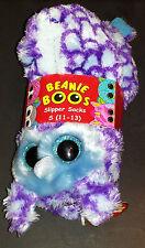 (1) ty Beanie Boos Slipper Socks Children Size Small 11-13 Oscar the Owl