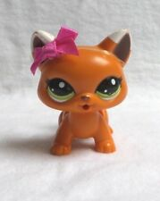 LITTLEST PETSHOP LPS #2491 HASBRO CHAT MECANIQUE TROTEUR ORANGE  BLANC YEUX VERT