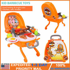 Kid Pretend Play Kitchen Set Toys BBQ Grill For Toddler Children Food Cooking US