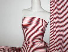 Red/White Stripes Nylon/Spandex 4 way stretch Matt Finish Fabric