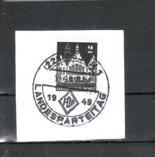 Deutsche Briefmarken der alliierten Besatzung als Einzelmarke mit Sonderstempel