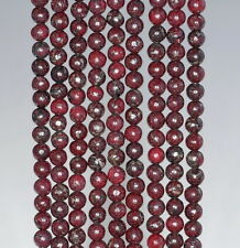 4MM RED PYRITE INCLUSIONS GEMSTONE GRADE AA ROUND LOOSE BEADS 15.5""